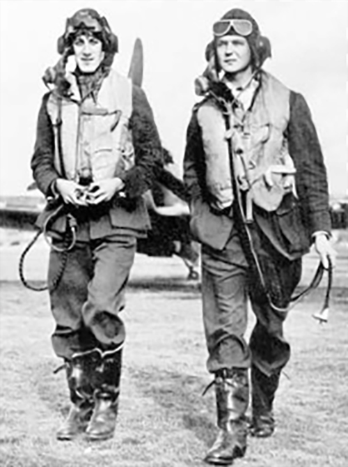 Aircrew RAF pilots Plt Off James R B Meaker and Percy Burton from 249Sqn both KIA 27th Sep 1940 01