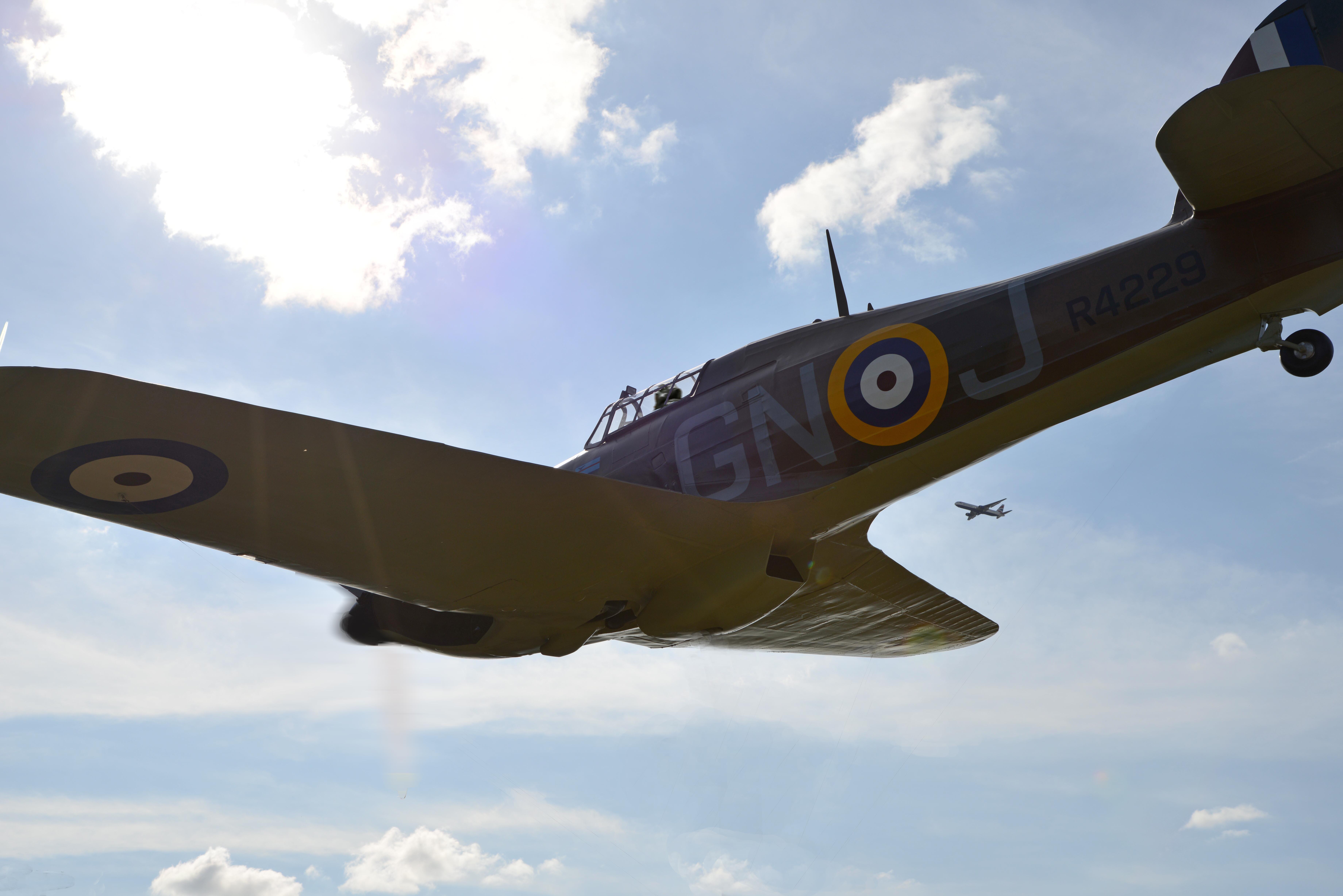 Airworthy Warbird marked as Hurricane MkI RAF 249Sqn GNJ R4229 01