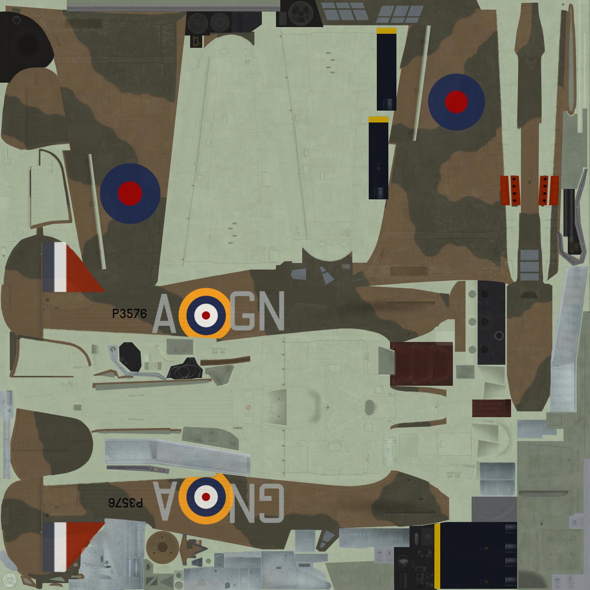 COD C6 Hurricane I RAF 249Sqn GNA Nicholson P3576 England 1940