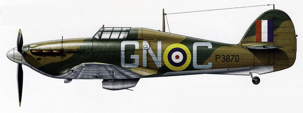Hurricane I RAF 249Sqn GNC P3870 England 1940 0A