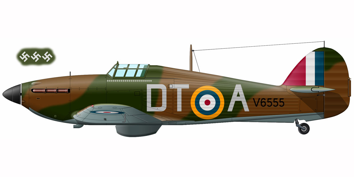 Hurricane I RAF 257Sqn DTA Stanford Tuck V6555 England 1940 0A