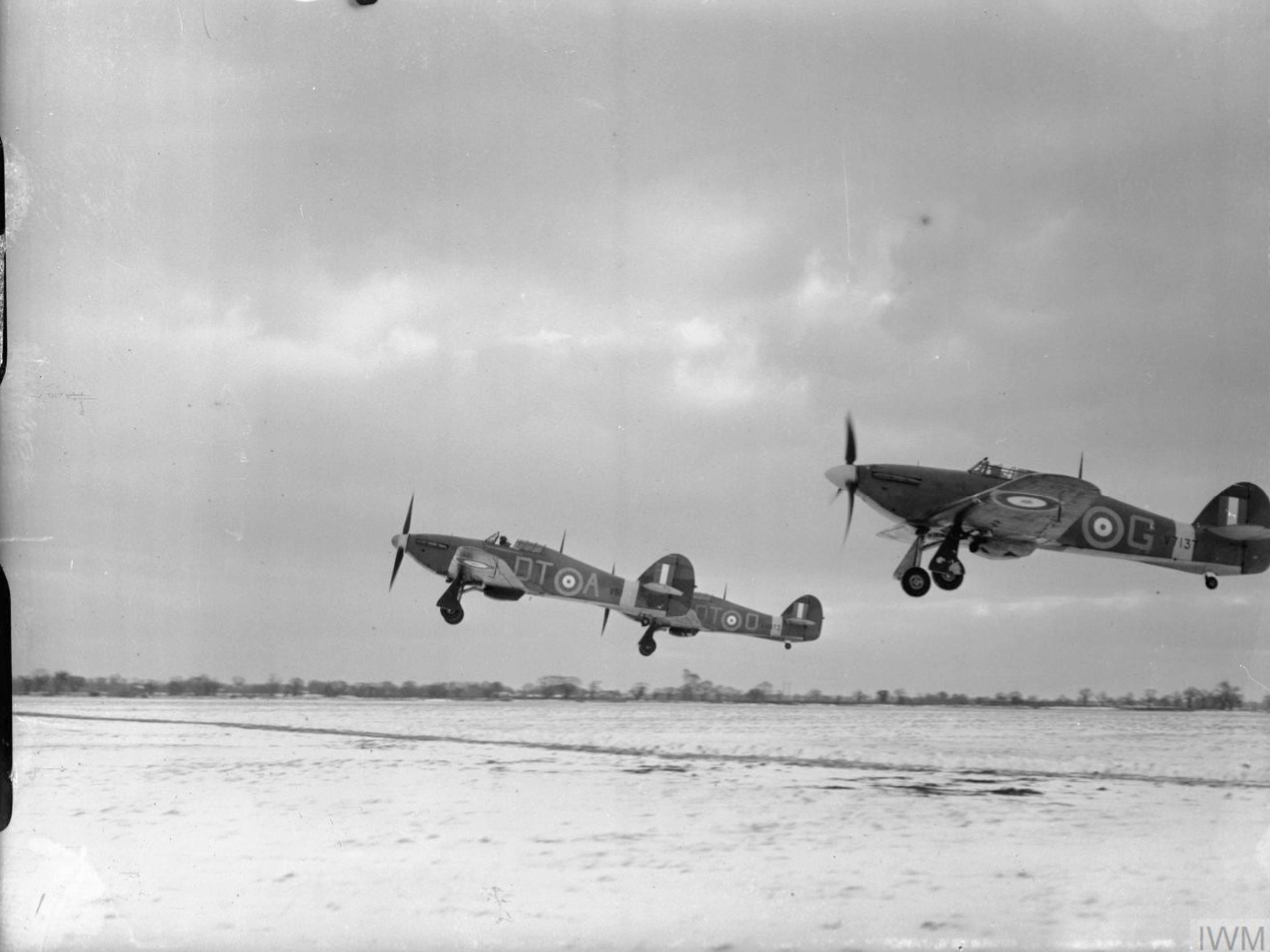 Hurricane I RAF 257Sqn DTA V6864 DTG V7137 n DTO at Coltishall Norfolk IWM CH1928