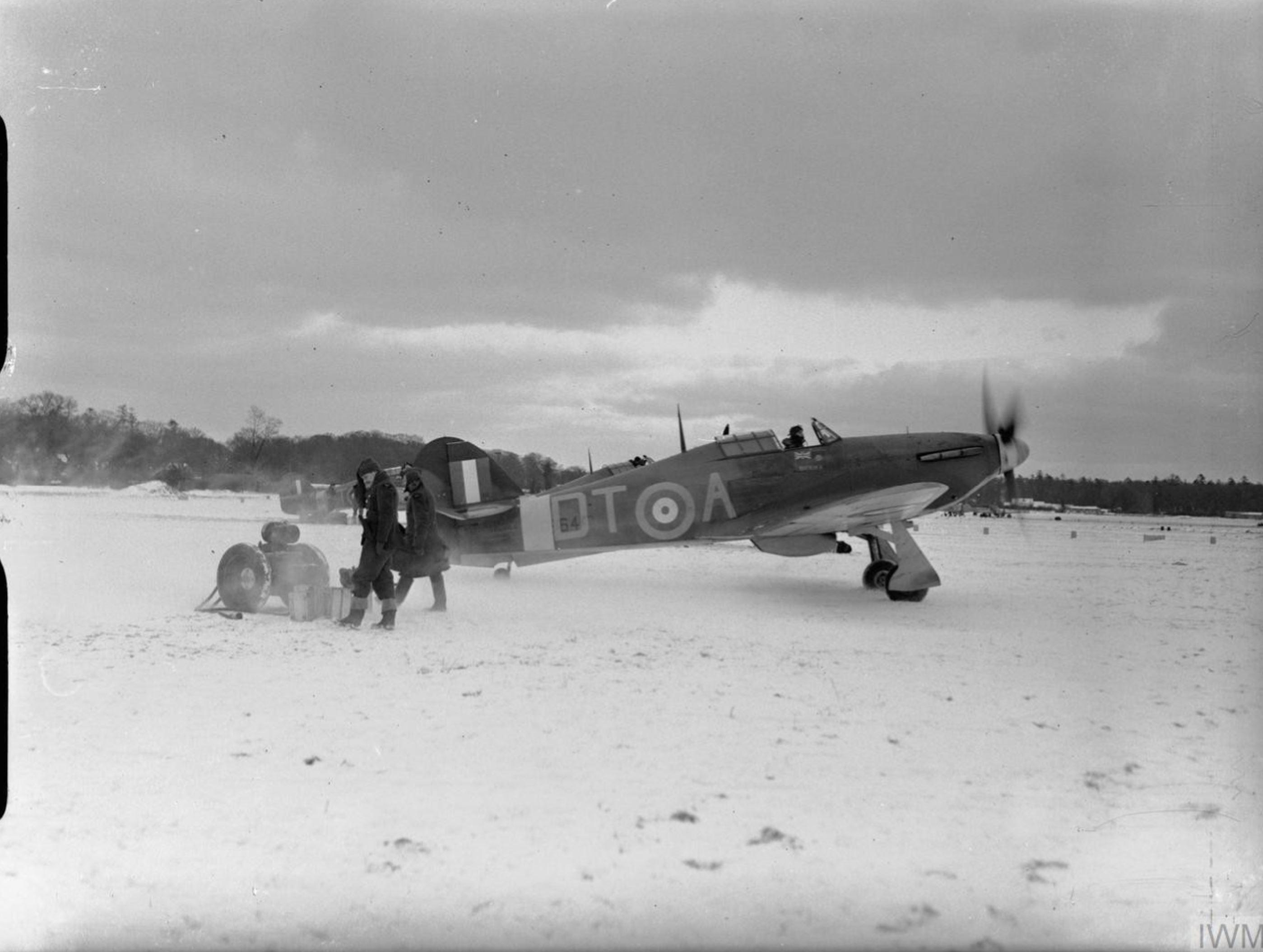 Hurricane I RAF 257Sqn DTA V6864 at Coltishall Norfolk IWM CH1927