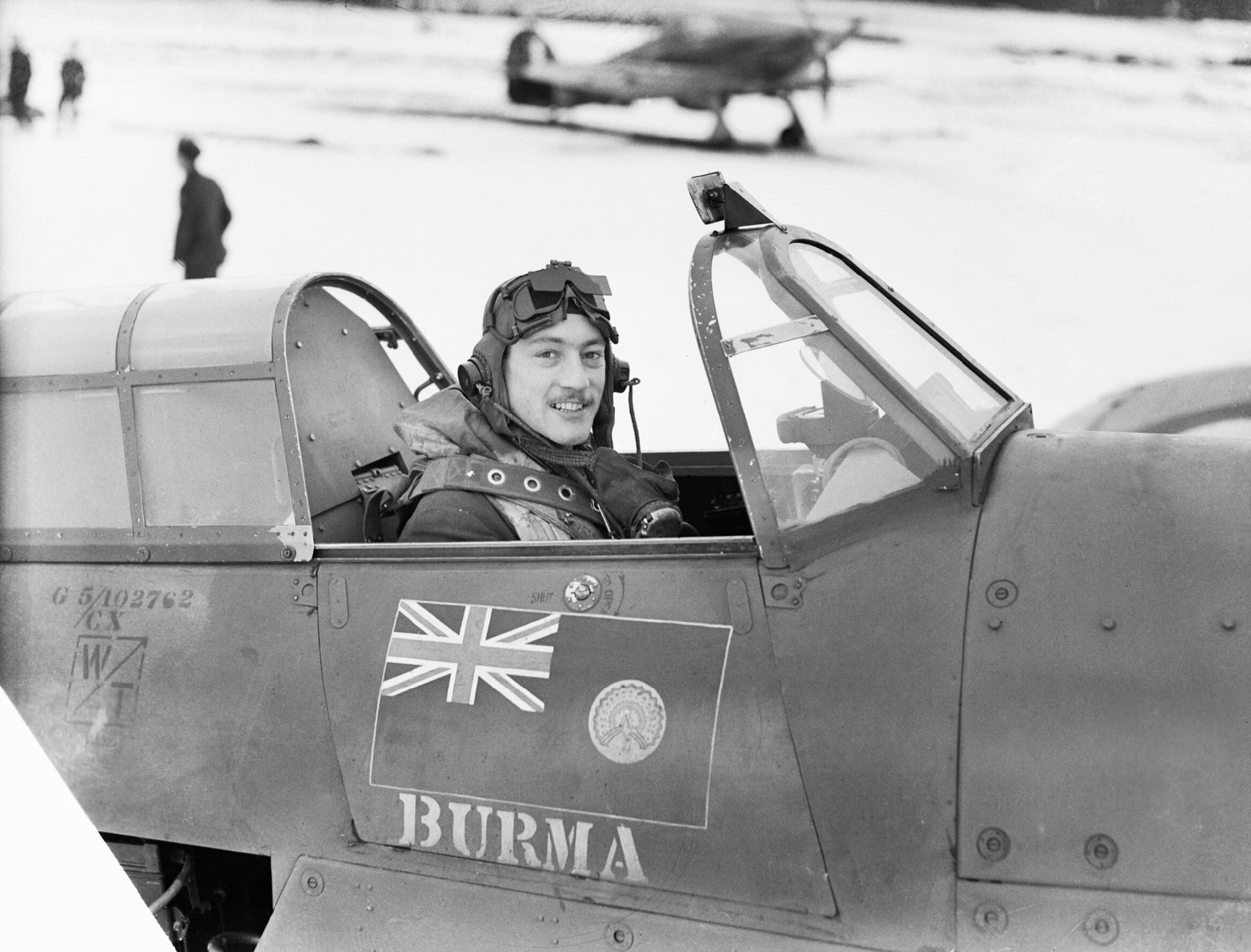 Hurricane I RAF 257Sqn DTA V6864 with Sqn Ldr RR Stanford Tuck at Coltishall Norfolk IWM CH1934