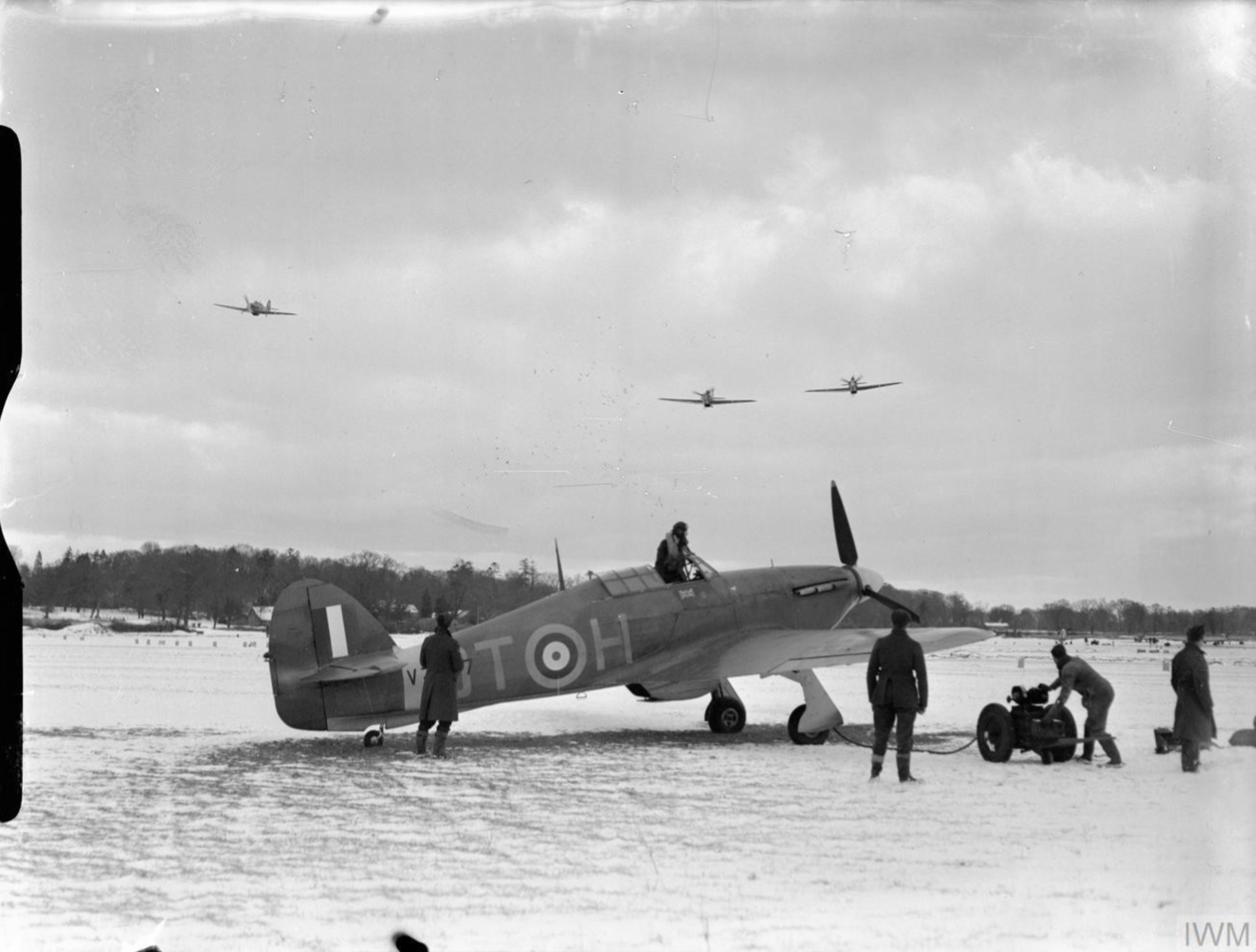 Hurricane I RAF 257Sqn DTH V7607 at Coltishall Norfolk IWM CH1929