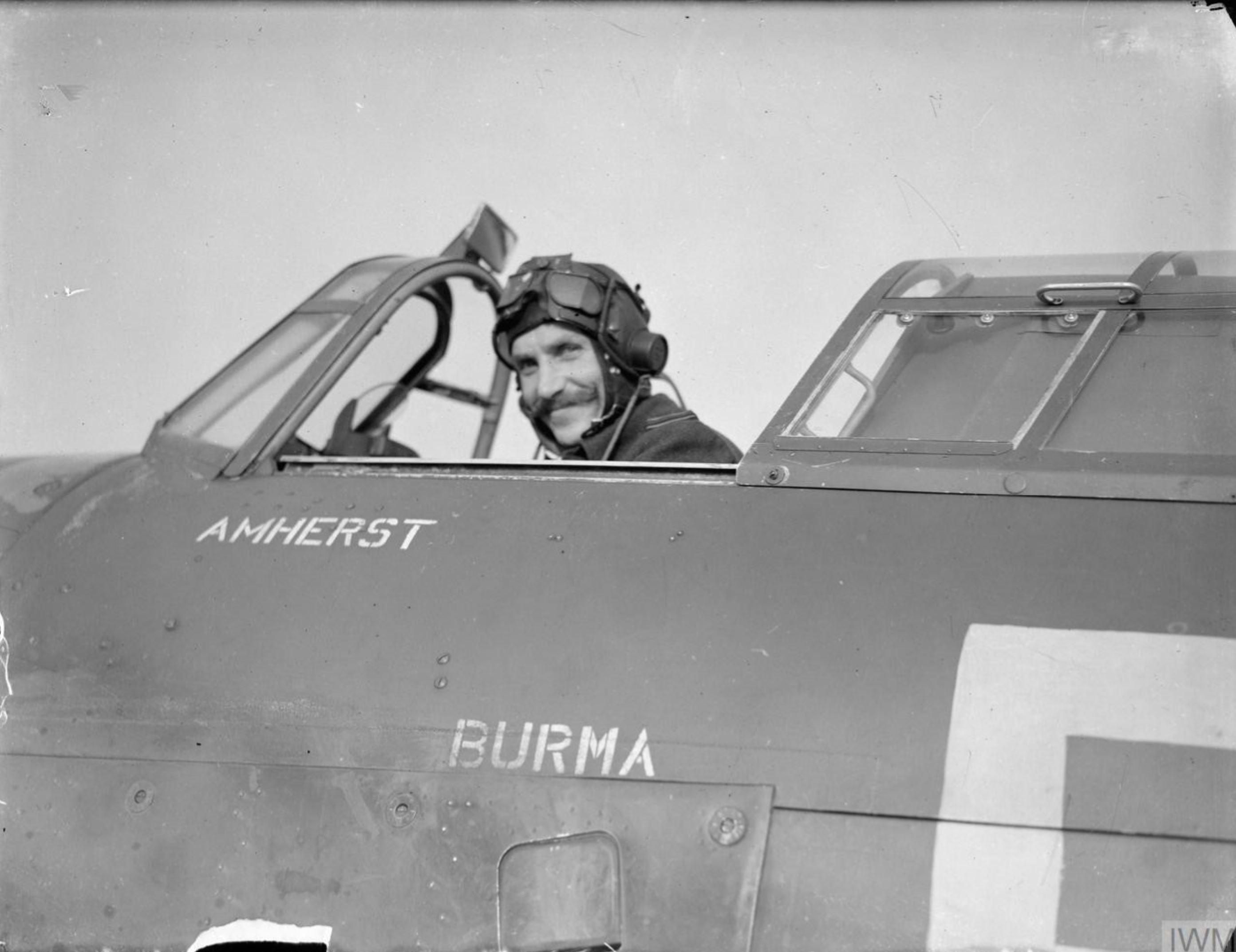 Hurricane RAF 257Sqn Sqn Ldr FJ Soper at Coltishal Norfolk IWM CH3535