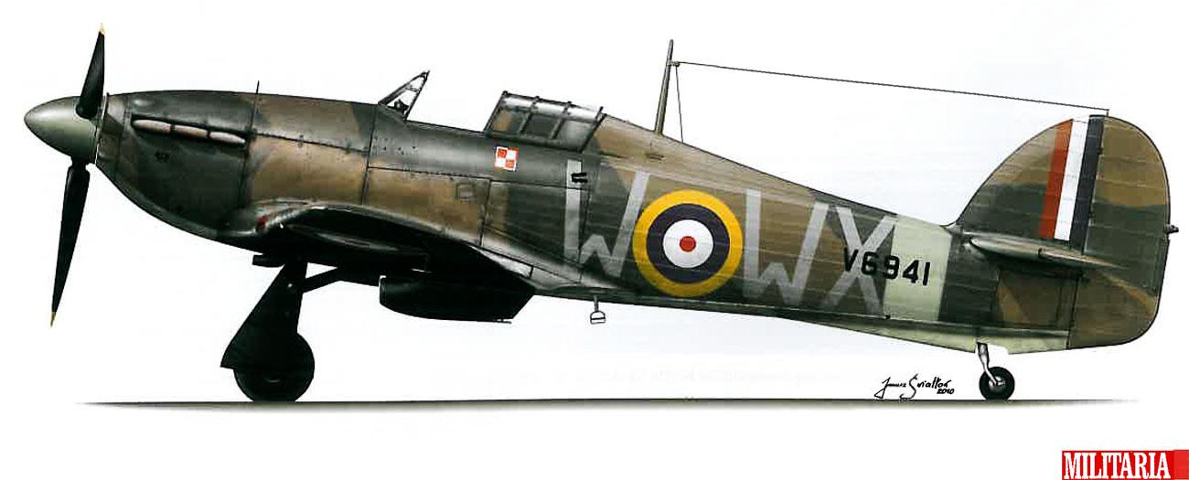 Hurricane I RAF 302Sqn WXW V6941 Duxford England Nov 1940 0B