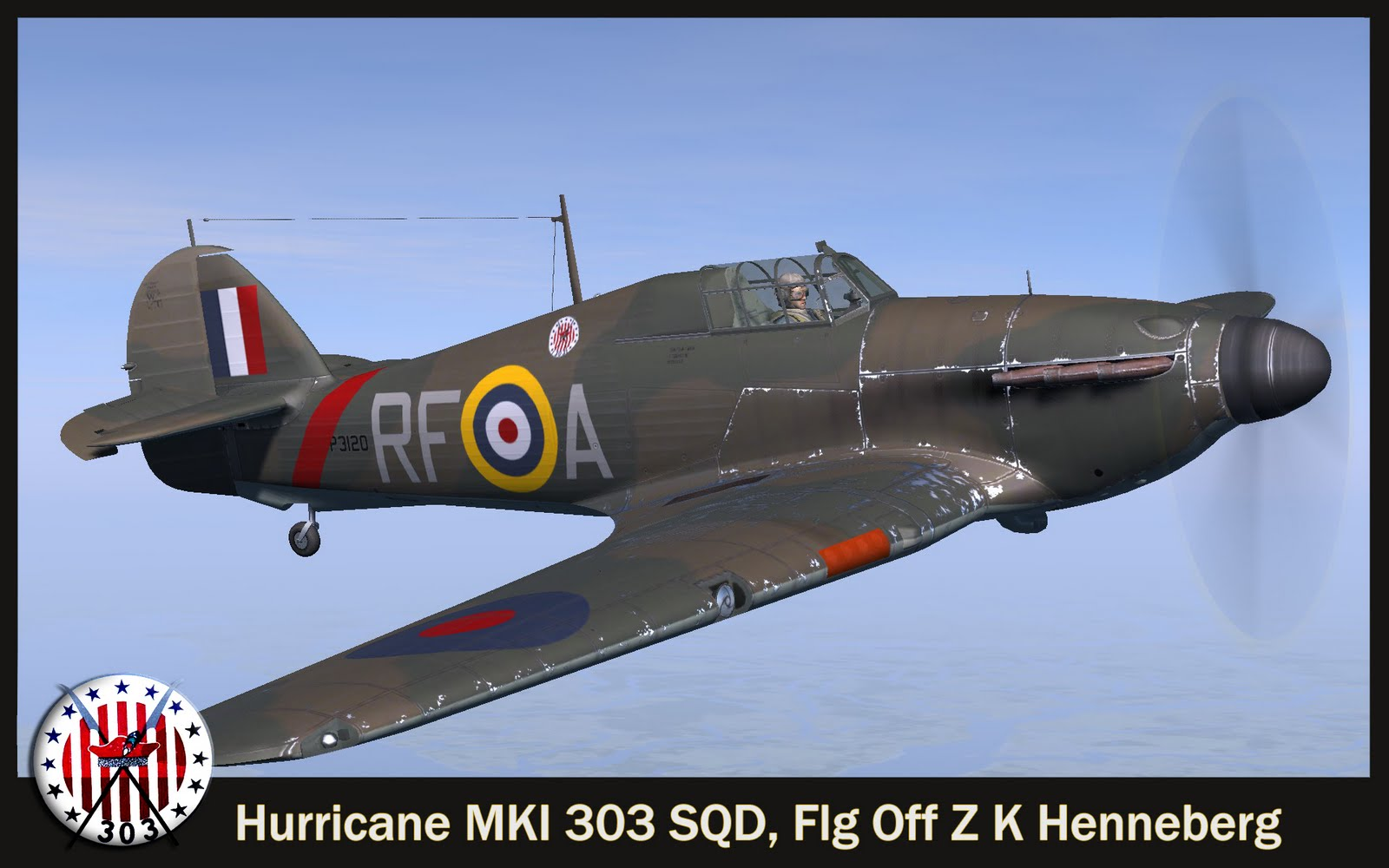 COD SO Hurricane I RAF 303Sqn RFA Henneberg P3120 England 1940 V0A