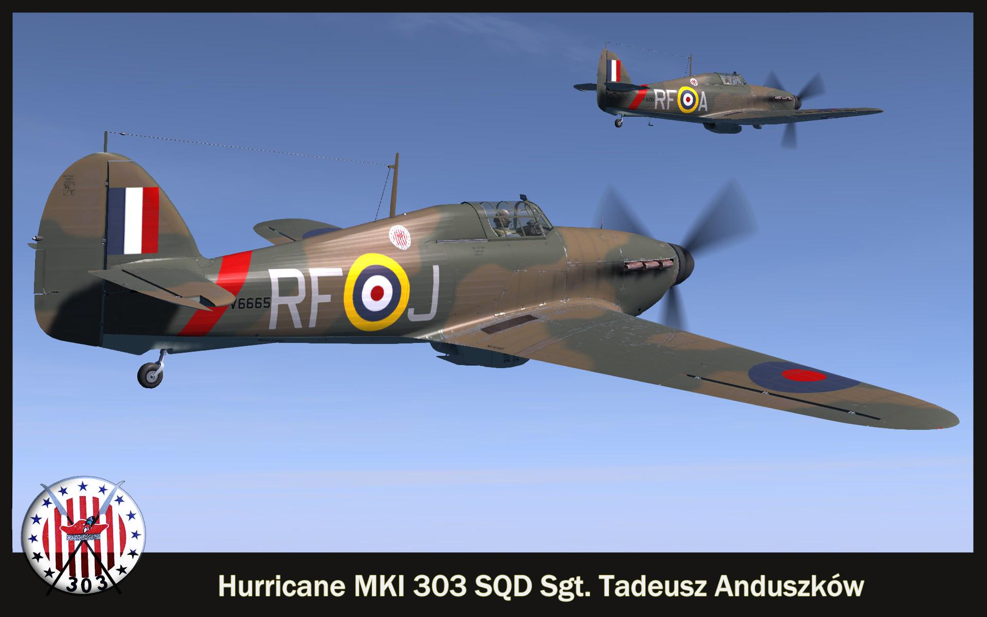 COD SO Hurricane I RAF 303Sqn RFJ Tadeusz Anduszkow V6665 England 1940 V0A