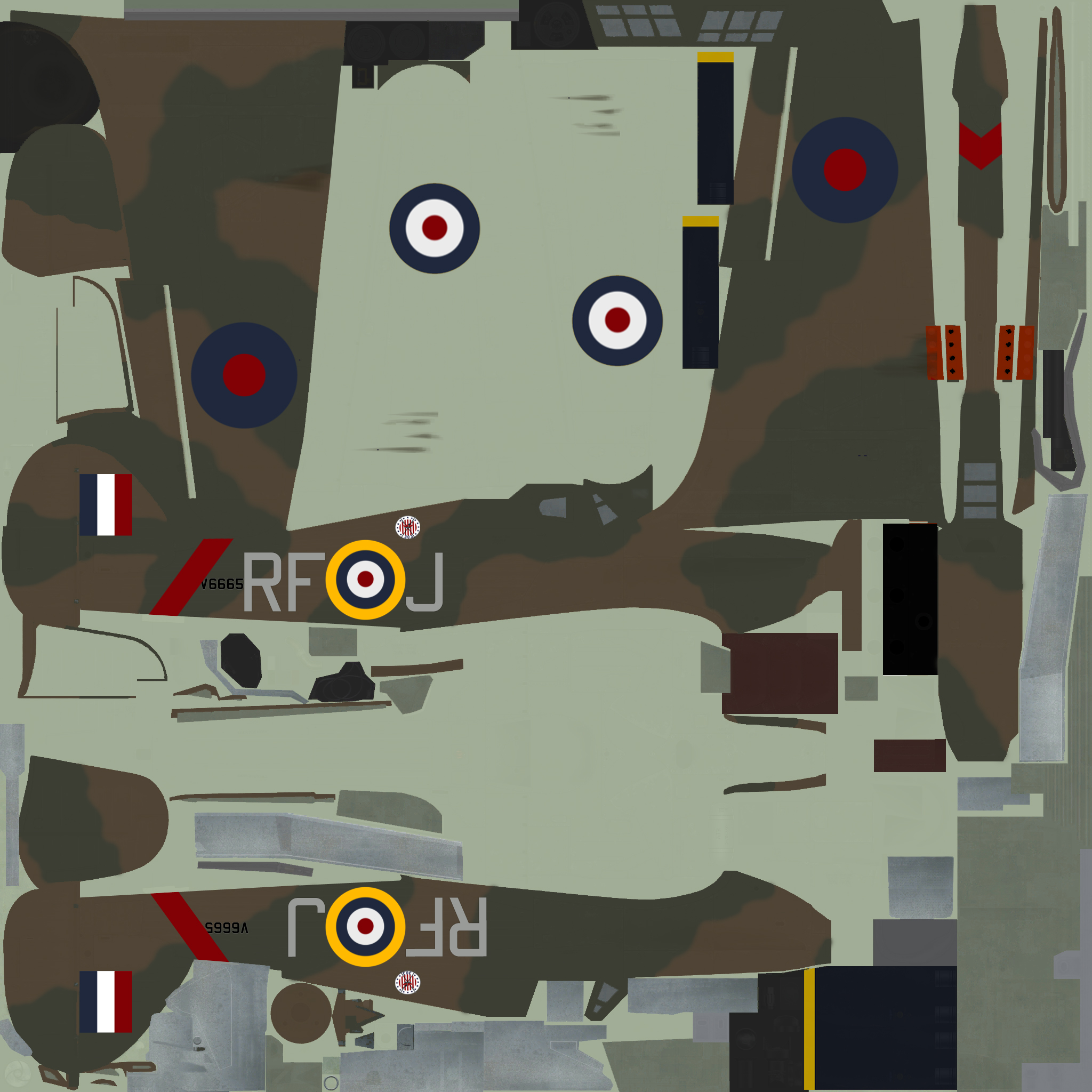 COD SO Hurricane I RAF 303Sqn RFJ Tadeusz Anduszkow V6665 England 1940