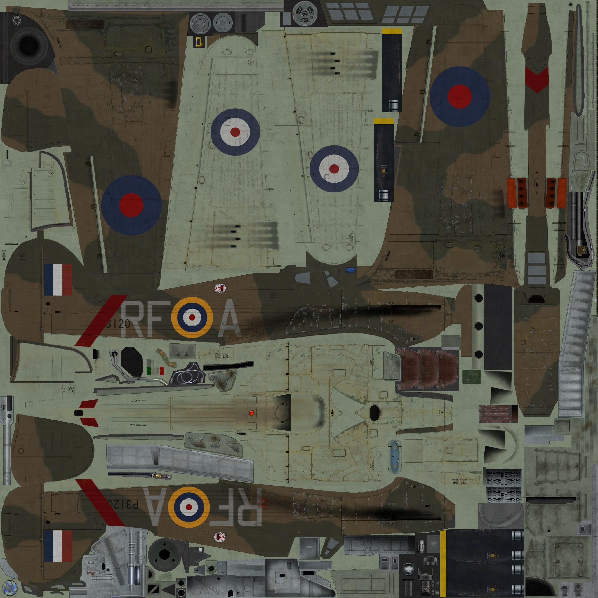 COD YO Hurricane I RAF 303Sqn RFA Henneberg P3120 England 1940