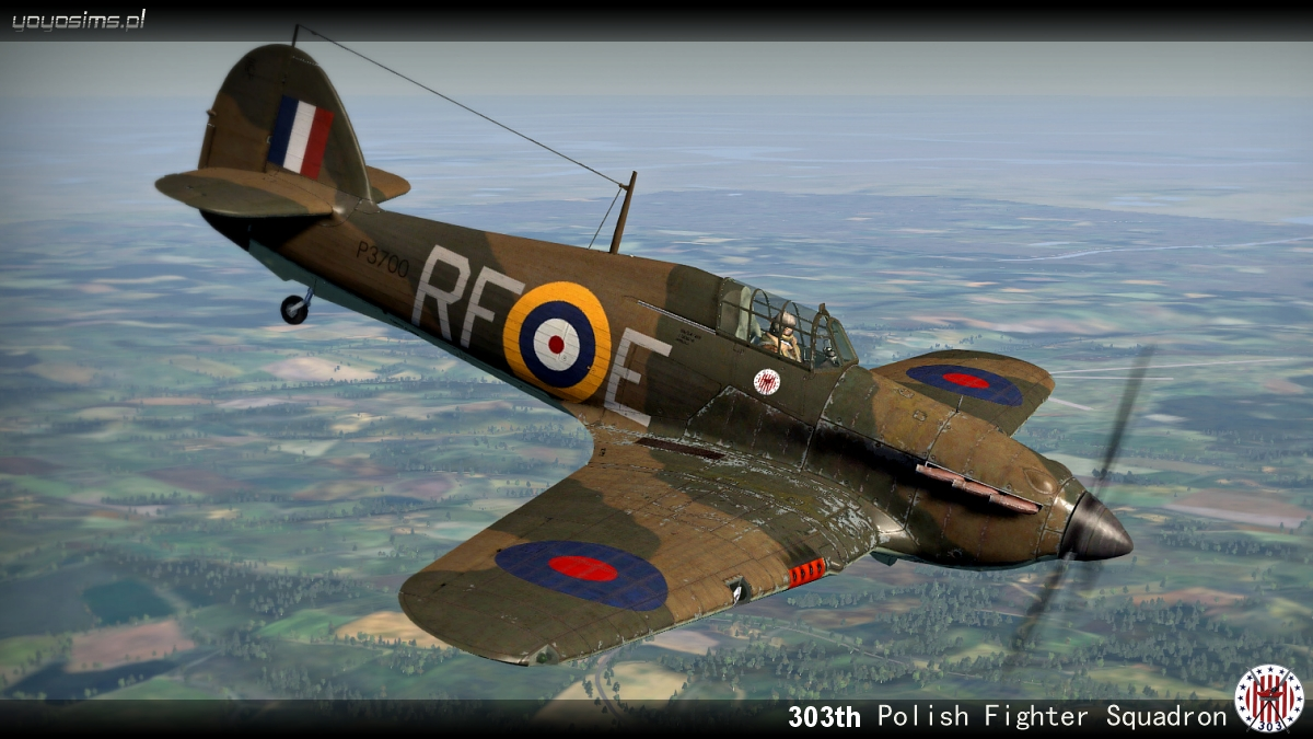COD YO Hurricane I RAF 303Sqn RFE Miroslaw Feric P3700 England 1940 V0A