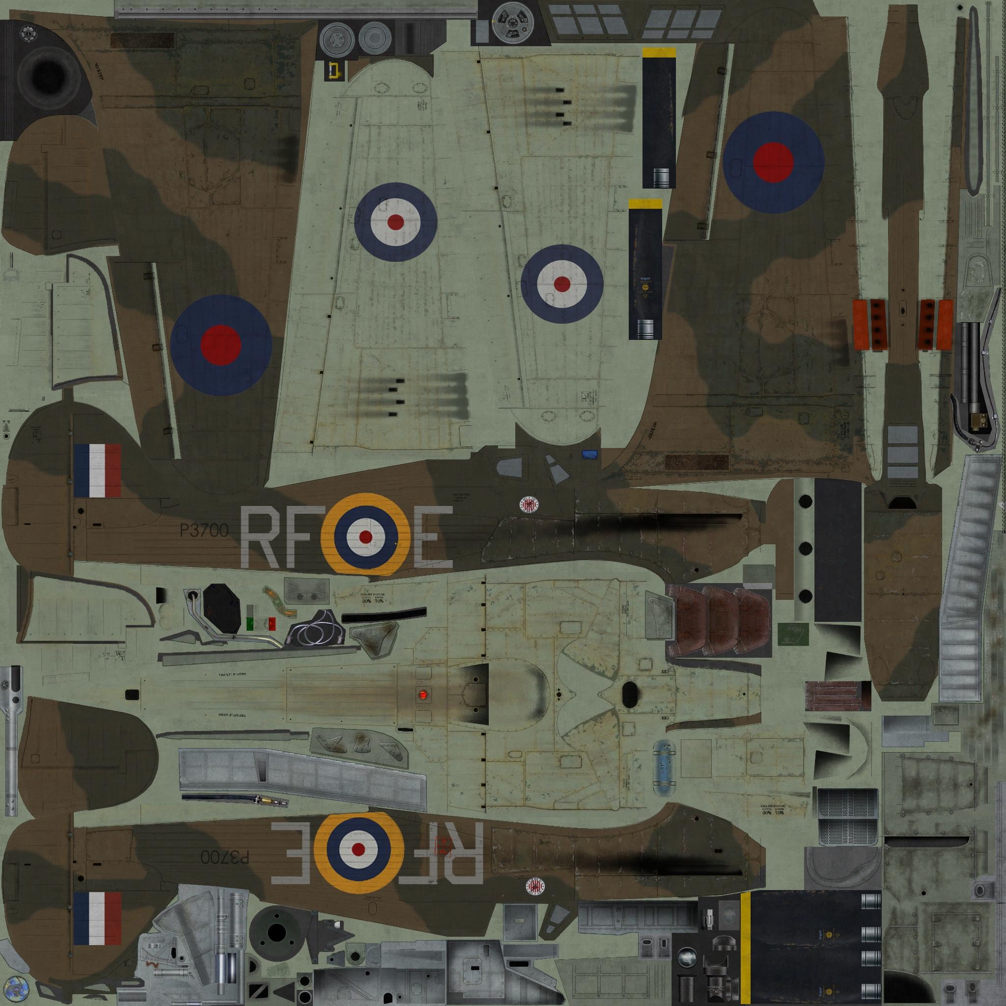 COD YO Hurricane I RAF 303Sqn RFE Miroslaw Feric P3700 England 1940