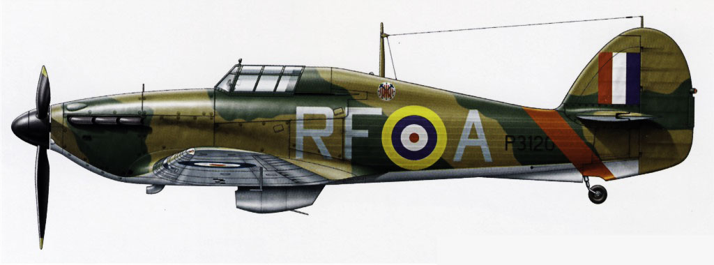 Hurricane I RAF 303Sqn RFA Henneberg P3120 England 1940 0A