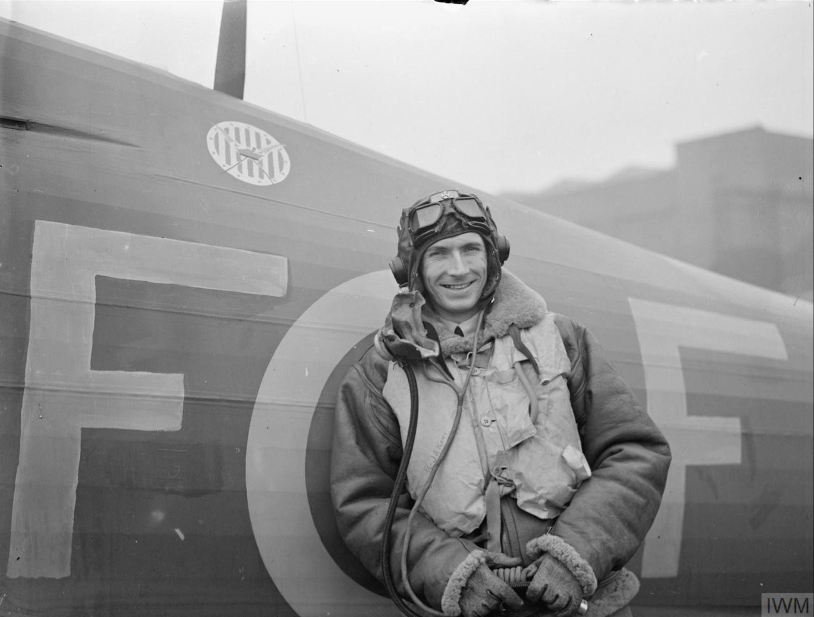 Hurricane I RAF 303Sqn RFF V6684 John A Kent at RAF Leconfield 24 Oct 1940 IWM CH1530