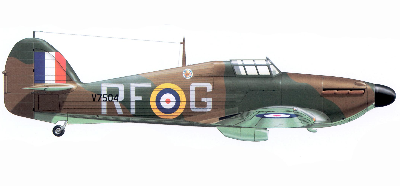 Hurricane I RAF 303Sqn RFG SqnLdr Ronald Kellet V7504 1940 Airplan 1997 03