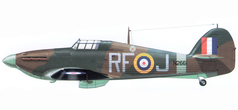 Hurricane I RAF 303Sqn RFJ N2661 1941 Airplan 1997 03
