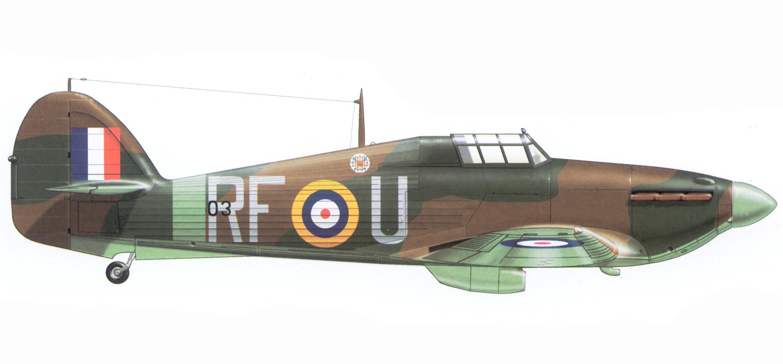 Hurricane I RAF 303Sqn RFU FO Marian Pisarek V7503 1940 Airplan 1997 03
