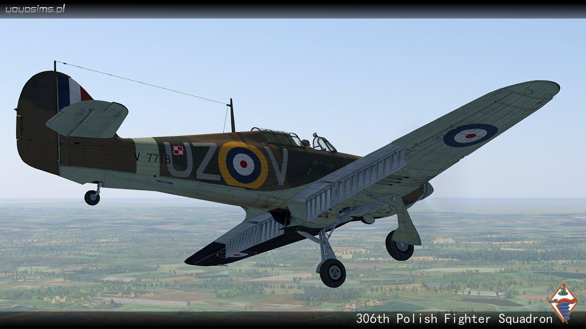 COD YY Hurricane I RAF 306Sqn UZV V7118 Ternhill England 1941 V0B