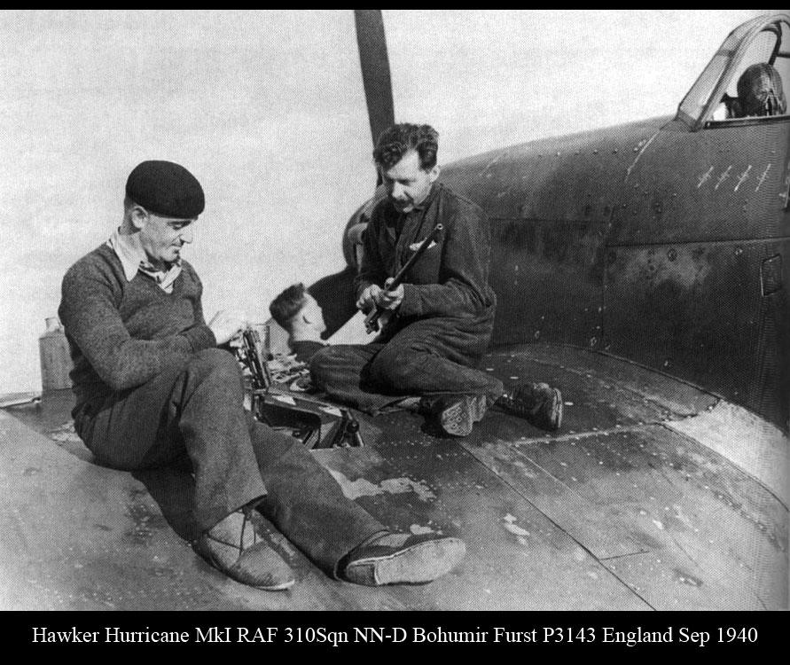 Hawker Hurricane I RAF 310Sqn NN D Bohumir Furst P3143 England Sep 1940 01