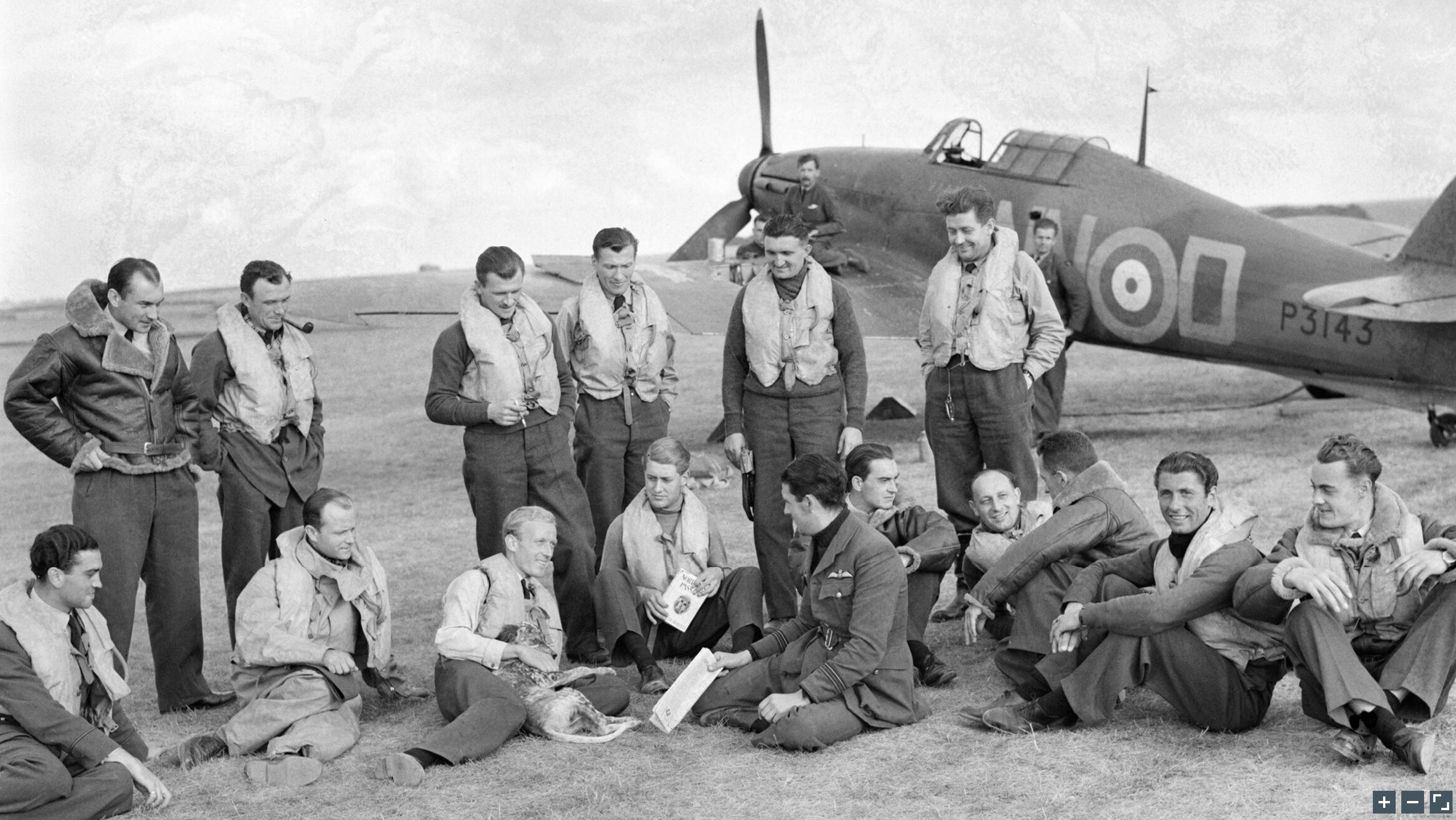 Hawker Hurricane I RAF 310Sqn NND P3143 Duxford England 7 Sep 1940 IWM CH1299a