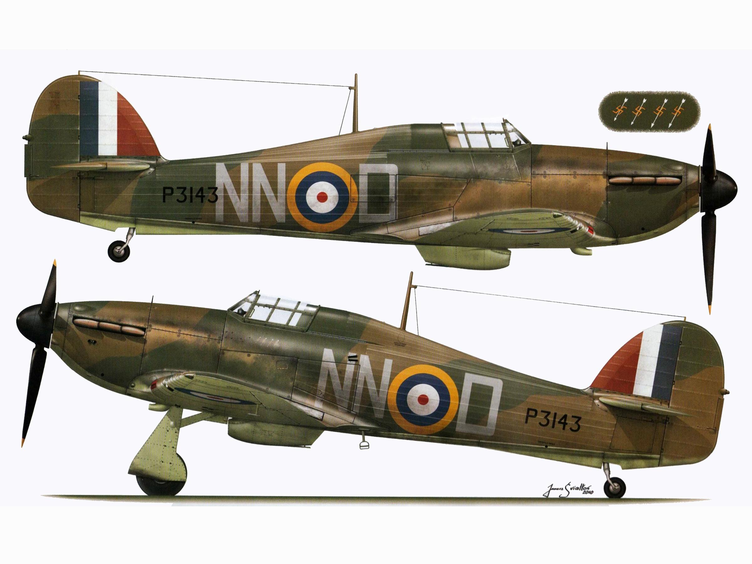 Hurricane I RAF 310Sqn Czech NND Bohumir Furst P3143 Duxford Sep 1940 TC15016