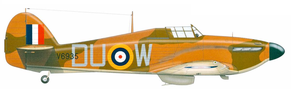 Hawker Hurricane I RAF 312Sqn DUW V6935 England Aug 1940 0A