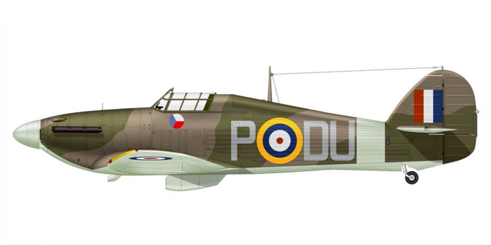 Hurricane I RAF 312Sqn DUP England 1941 0A