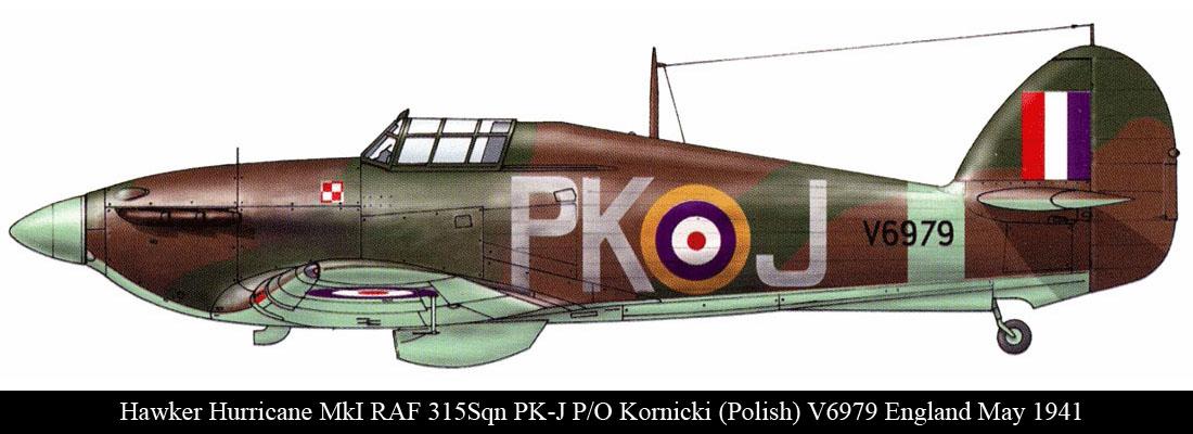 Hurricane I RAF 315Sqn PKJ Kornicki V6979 England May 1941 0A
