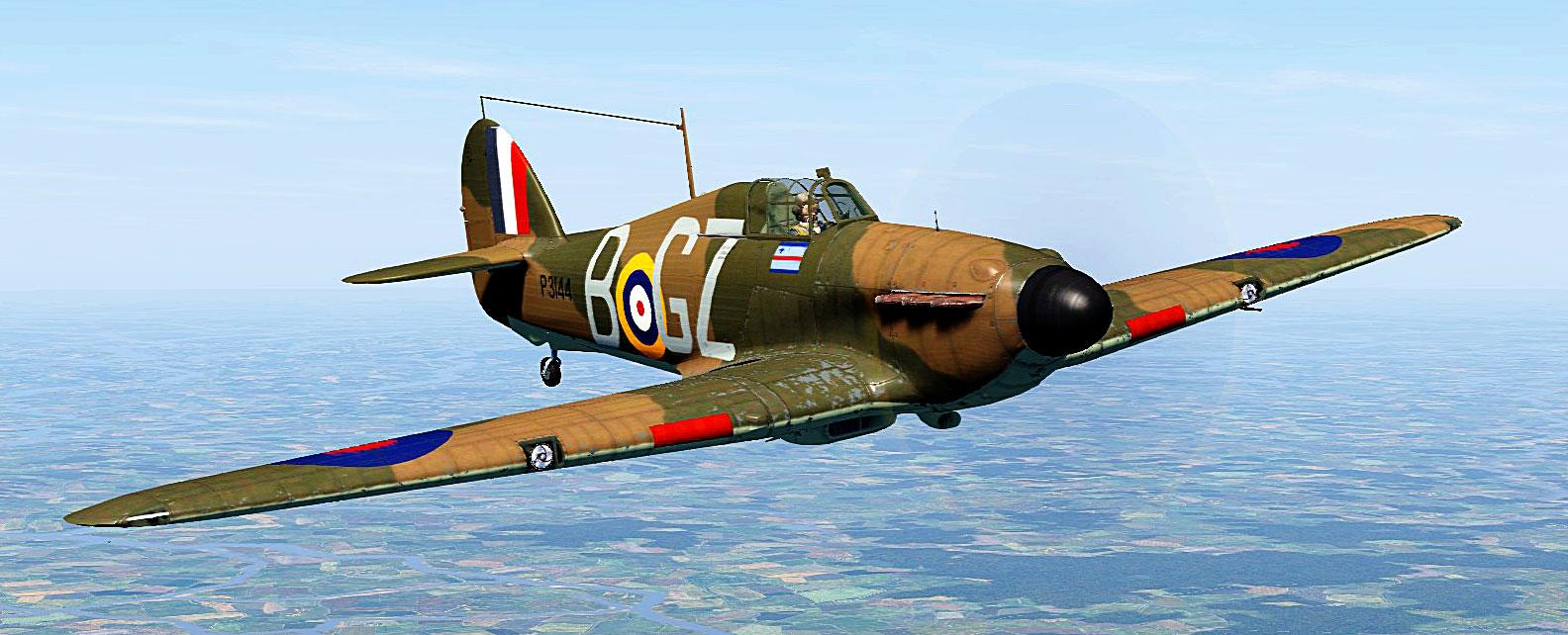 COD C6 Hurricane I RAF 32Sqn GZ B John Worrall P31442 guarding England July 1940 V01