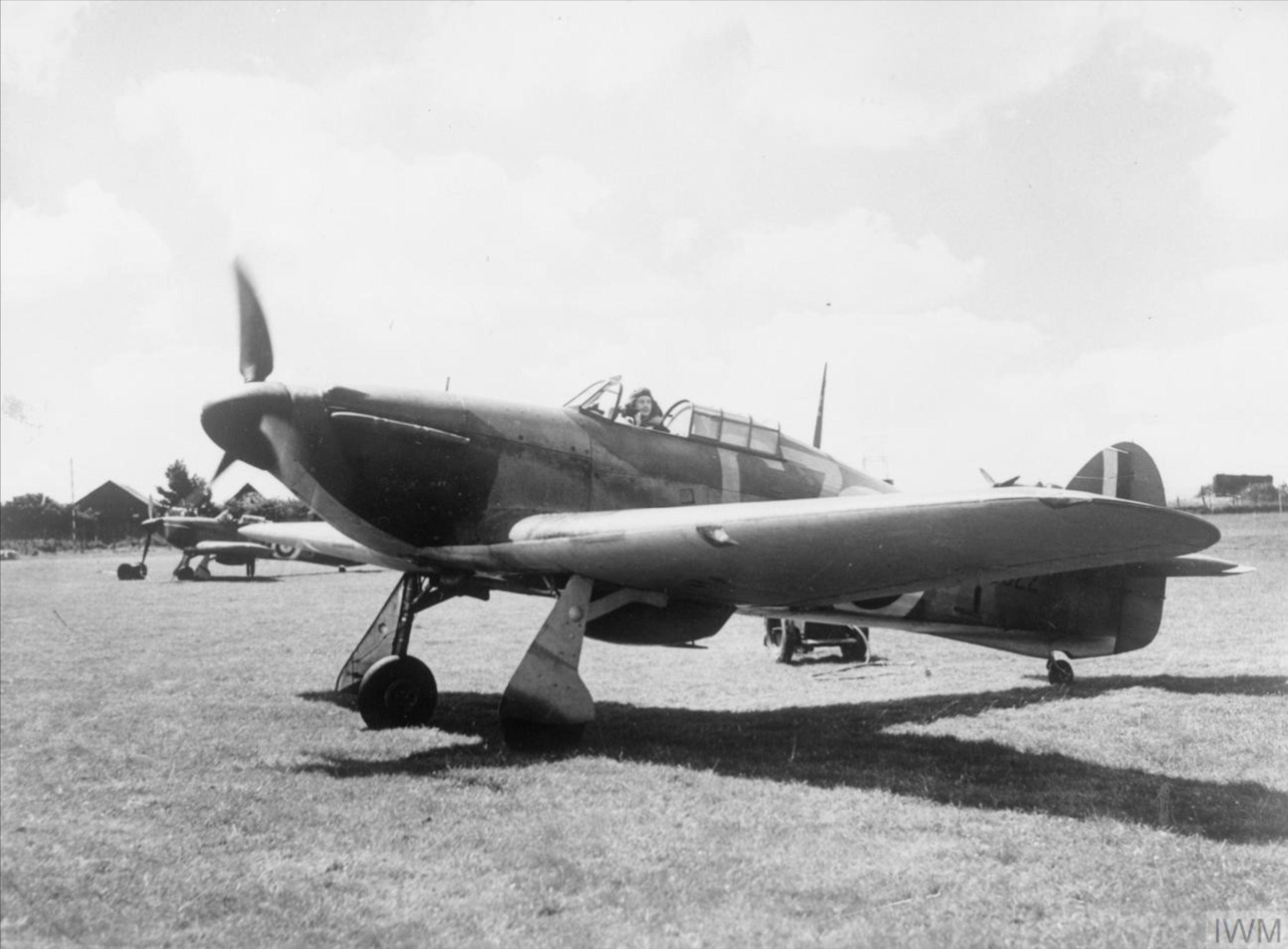 Hurricane I RAF 32Sqn GZV Rupert Smythe P3522 at Hawkinge 29 July 1940 IWM HU54417