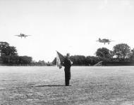 Asisbiz Hurricane I RAF 32Sqn GZZ landing at Biggin Hill England Aug 1940 IWM HU54519A