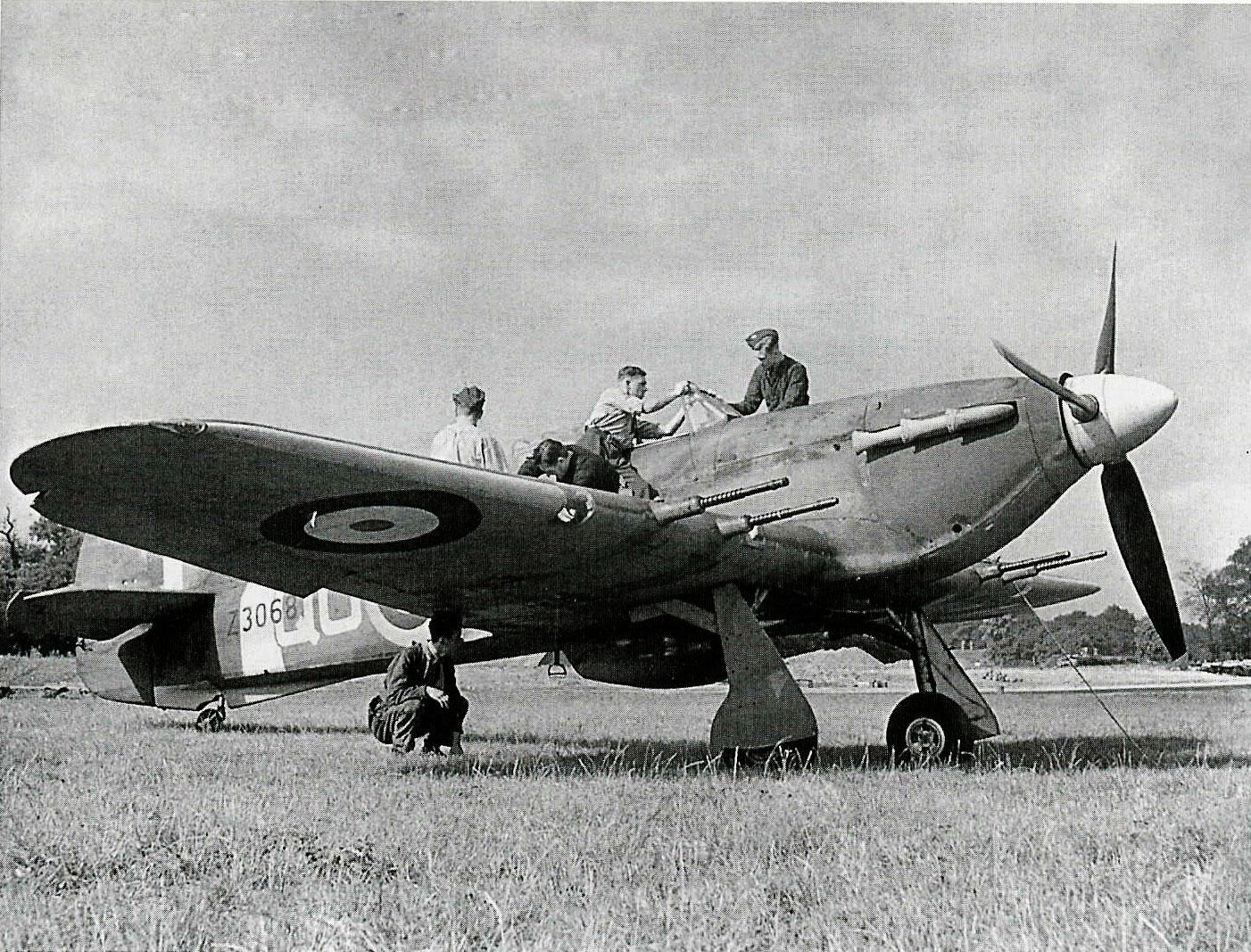 Hawker Hurricane IIc RAF 3Sqn QOC Z3068 based at RAF Hundson 1941 IWM CH3510