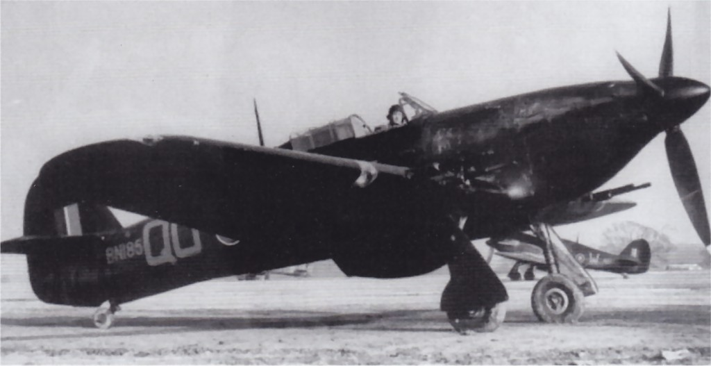 Nightfighter Hurricane IIc RAF 3Sqn QO BN185 01
