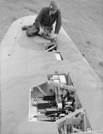 Asisbiz Hawker Hurricane IIb RAF 3Sqn showing the gun bays at Hunsdon Hertfordshire IWM CH3522