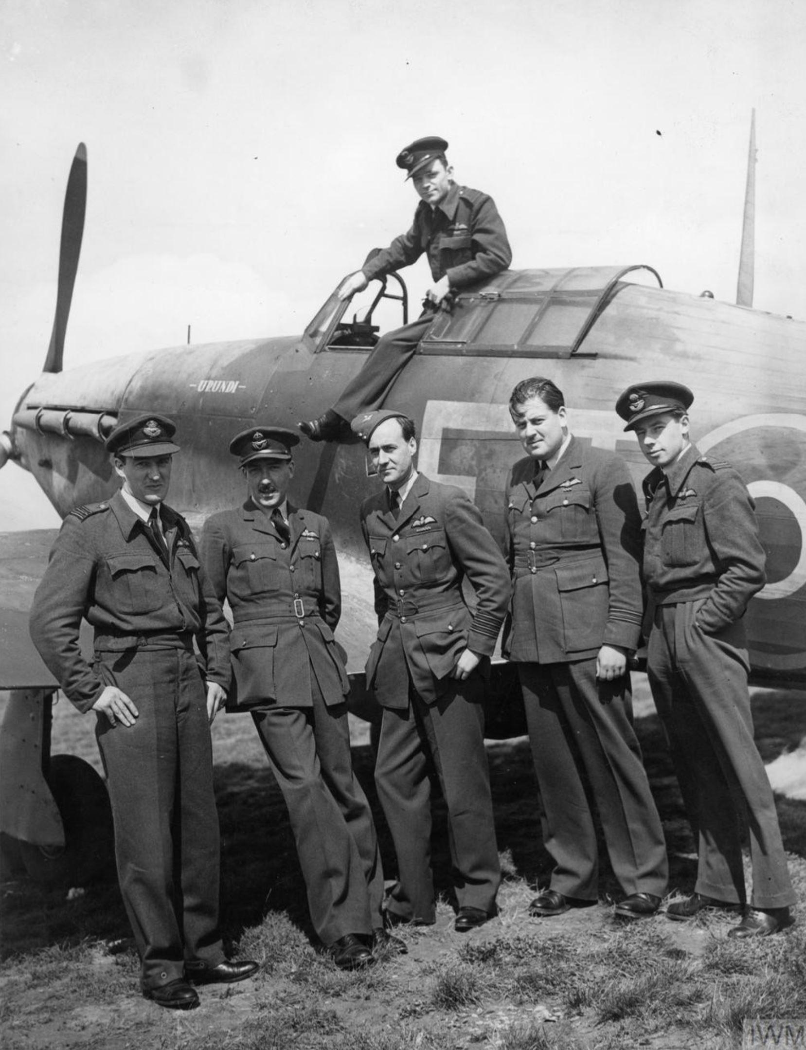 Aircrew RAF Wings during the Dieppe Raid at Tangmere IWM HU88314