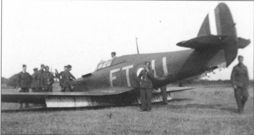 Hawker Hurricane I RAF 43Sqn FTU P3784 crash landing 20th July 1940 01