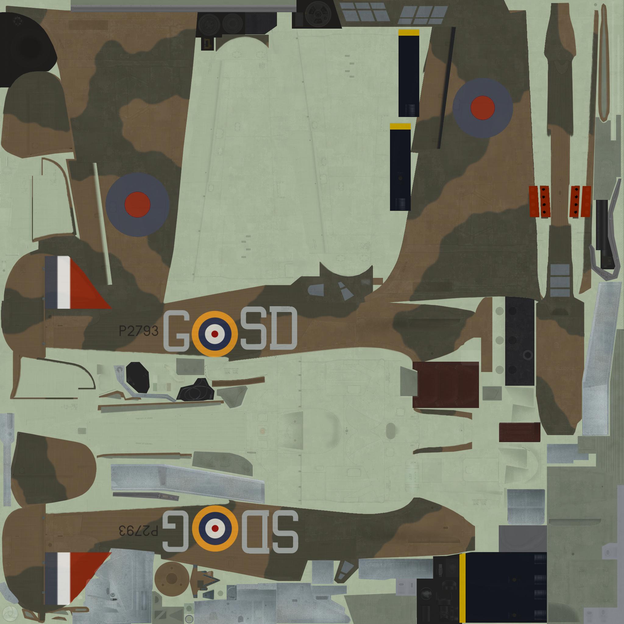 COD C6 Hurricane I RAF 501Sqn SDG Ginger Lacey P2793 England 1940
