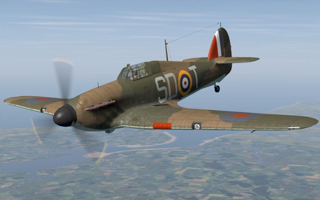 COD C6 Hurricane I RAF 501Sqn SDT Bland P3208 England 1940 V0A