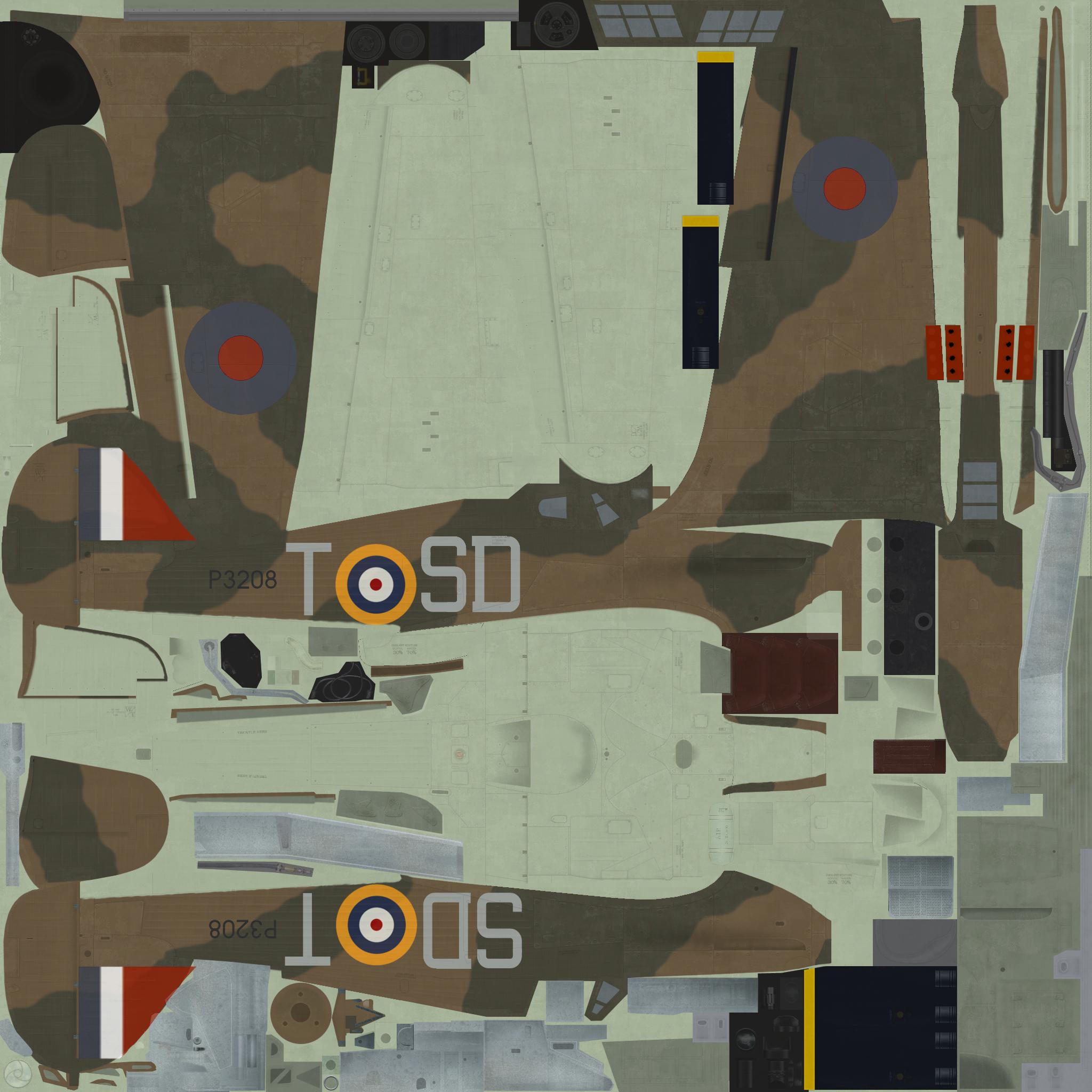 COD C6 Hurricane I RAF 501Sqn SDT Bland P3208 England 1940