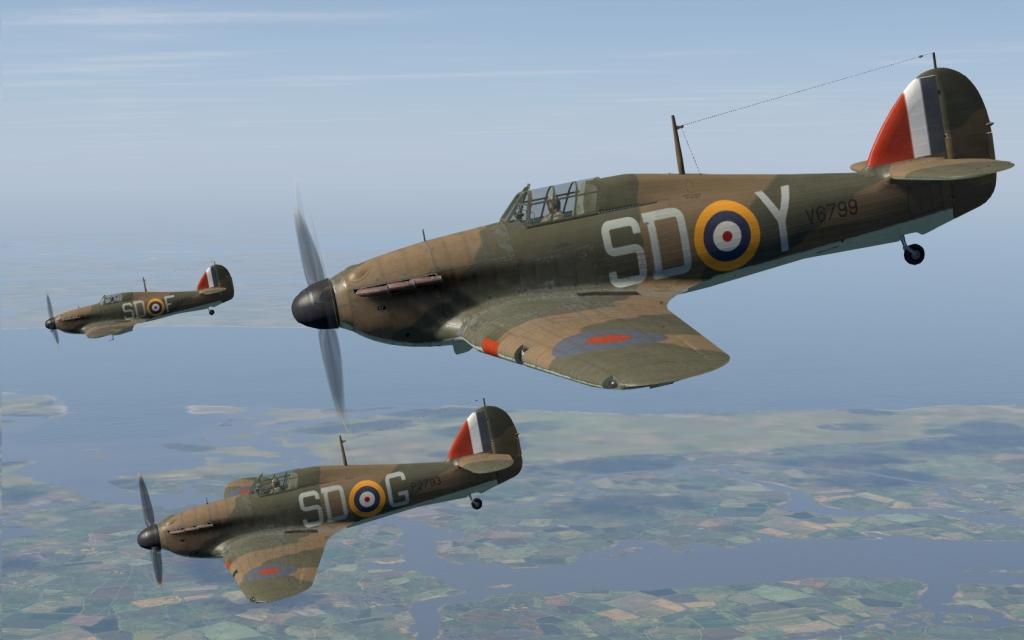 COD C6 Hurricane I RAF 501Sqn SDY Mackenzie V6799 England 1940 V0A