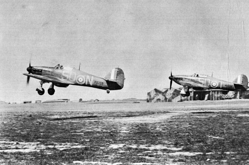 Hawker Hurricane I RAF 501Sqn SDT Bland P3208 England 1940 01