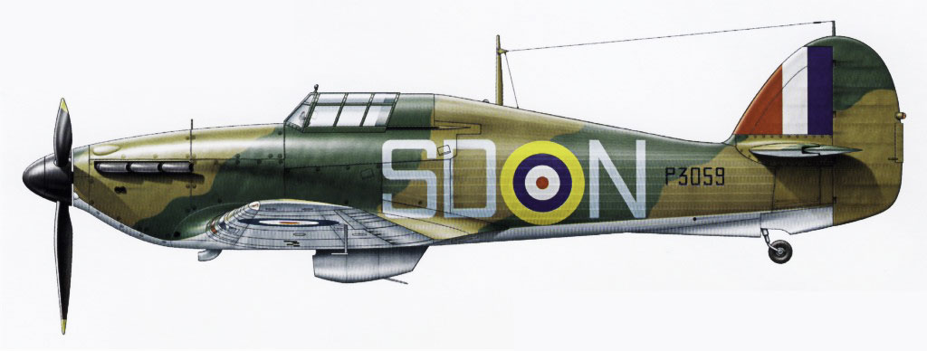 Hawker Hurricane Ia RAF 501Sqn SDN Lee P3059 England 1940 0A