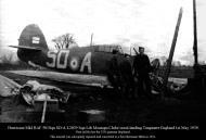 Asisbiz Hawker Hurricane I RAF 501Sqn SDA L2039 Montagu Clube crash landing Tangmere 1st May 1939