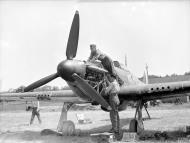 Asisbiz Hawker Hurricanes I RAF 501Sqn SD at Reims Champagne 1940 IWM CH1431