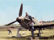 Asisbiz Hawker Hurricanes I RAF 501Sqn SD at Reims Champagne 1940 IWM CH1431a