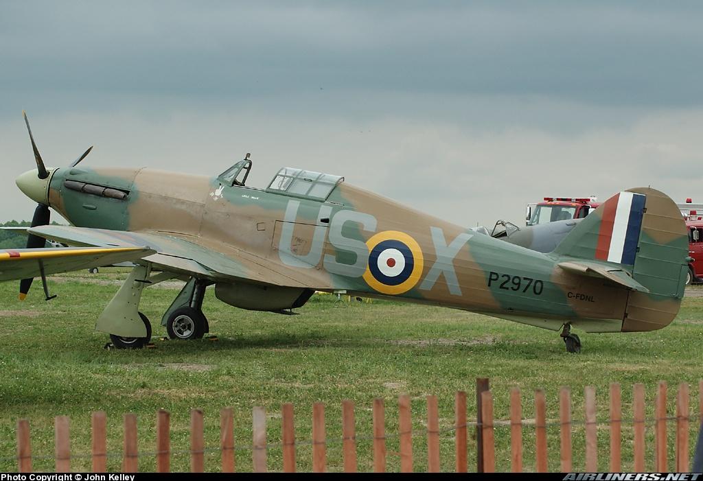 Airworthy Hawker Hurricane warbird C FDNL as RAF 56Sqn USX P2970 01