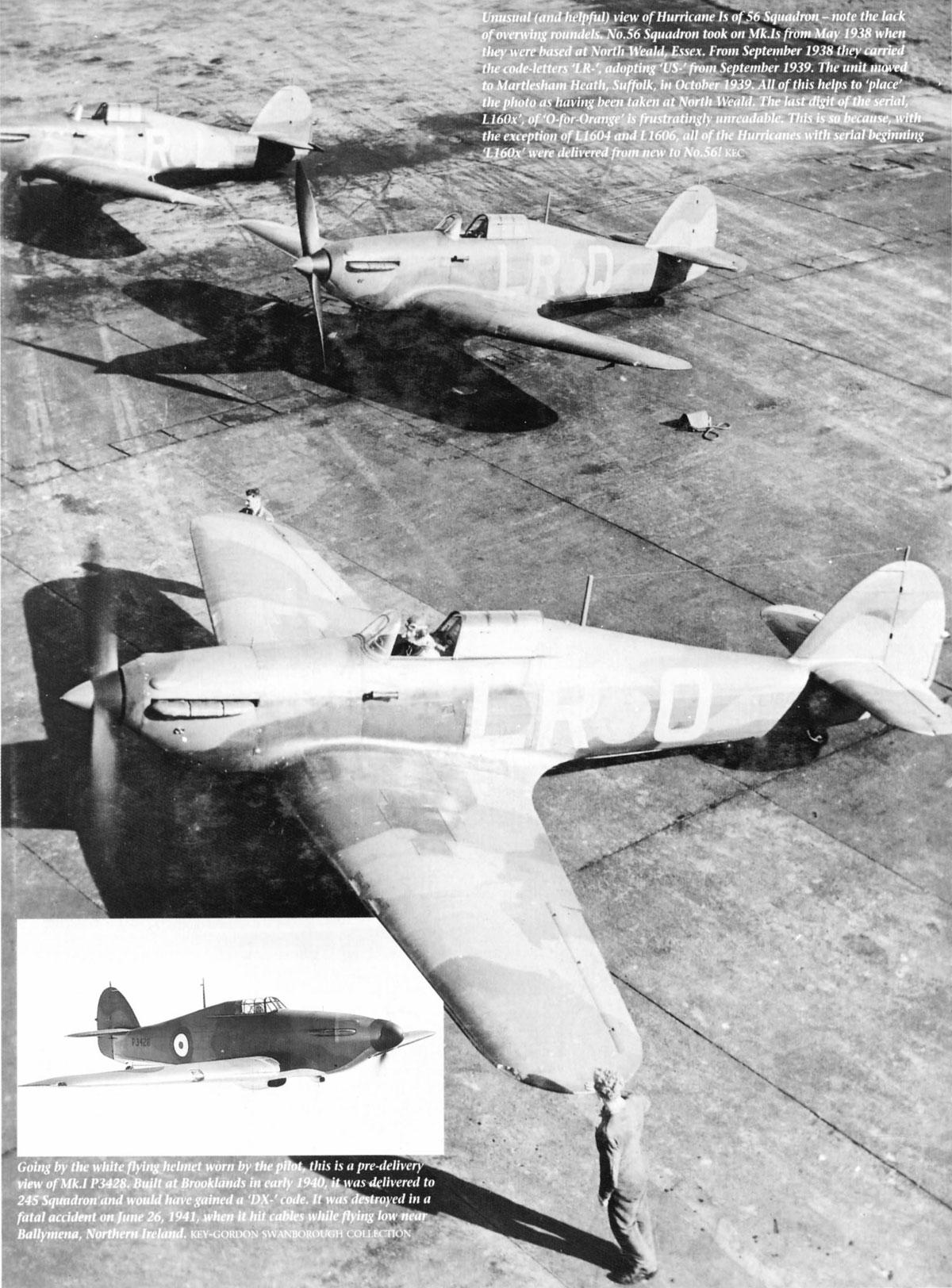 Hawker Hurricane I RAF 56Sqn LRO L160x North Weald Essex May 1938 01