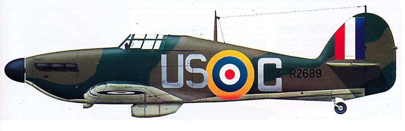 Hurricane I RAF 56Sqn USG R2689 North Weald July 1940 0A