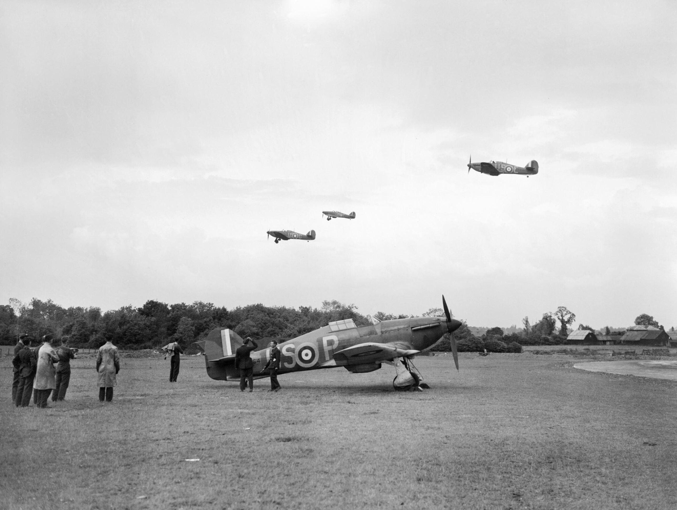 Hurricane I RAF 56Sqn USP BP2764 based at North Weald Essex IWM CH158